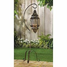 BULK LOTS Iron Antique Bronze Moroccan Style Pillar Candle Lanterns Floor Stands
