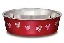 Loving Pets BELLA BOWL Stainless Steel SMALL Dog Feeder Bowl NEW DESIGNS