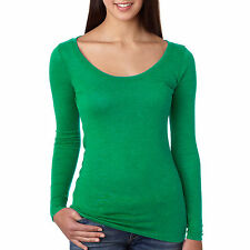 Next Level Apparel Women's Tri-Blend Long Sleeve Scoop Neck Tee