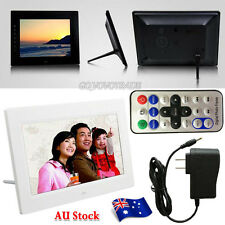 7 inch HD LCD Digital Photo Frame with Alarm Slideshow +Charger +Remote Deskto