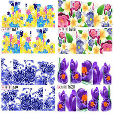 NAIL ART WATER TRANSFERS STICKERS DECALS WRAPS FLOWER