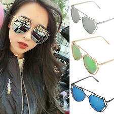 Womens Retro Designer Mirrored Metal Frame Sunglasses Shades Glasses Eyewear New