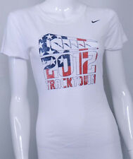 NIKE TRACKTOWN 2012 USA OLYMPICS NEW Womens White Dri Fit Shirt 558426 100