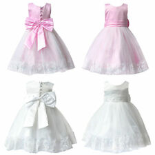 New Flower Girls Princess Pageant Dress Wedding Bridesmaid Party Tutu Communion