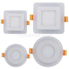 6W/9W Square/Circular PMMA Cover Bulb Panel Warm White/White Recessed Downlight