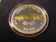 1974 Corvette Stingray Coin Medallion 74 Chevrolet Chevy Sting Ray New in Box