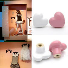 Hot Heart Drawer Pull Hanle Furniture Cupboard Cabinet Drawer Door Knobs Ceramic