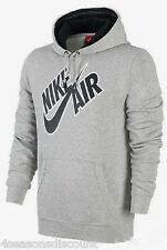 Nike Air Men's Grey Fleece Overhead Hoody Top Size S-XL 612878-063