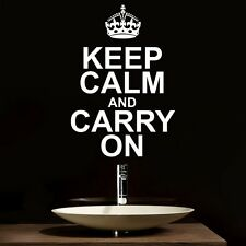 Keep Calm and Carry On - Wall Decal Art Sticker kitchen living room bedroom hall