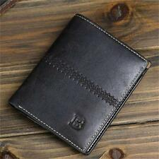 Mens Leather Bifold ID Card Holder Wallet Handbag Slim Clutch Pockets Billfold