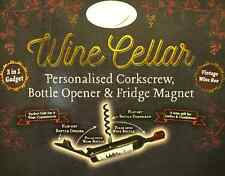 Bottle Opener/Corkscrew ~ Personalised ~ corkscrew/bottle opener & Fridge Magnet