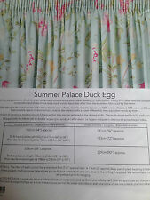 LAURA ASHLEY SUMMER PALACE DUCK EGG  CURTAINS NEW 88