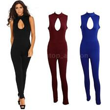 Women Playsuits Sleeveless Cutout Sexy Rompers Summer Long Pants Jumpsuit Y6M9