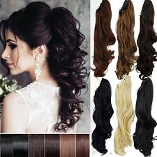 Ponytail Clip in Hair Extension Clip/Claw Pony tail clip on Extensions Hair L7a