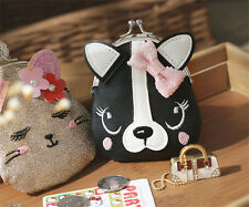 Fashion Ladies Cute Cat Dog Animal  Hasp Clutch Coin Purse Wallet Mini Bag New