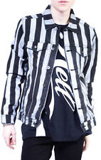 LIP SERVICE 24HRS GOTHIC EXPLOITED PUNK ROCKER REFEREE STRIPED EMO COAT JACKET