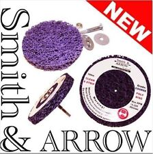 """2x 150mm 6"""" POLY STRIP DISC DRILL AIR TOOL WHEEL PAINT RUST REMOVAL CLEAN METAL"""