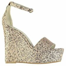 Jeffrey Campbell Womens Anya Wedge Sandals Summer Casual Platform Textile Shoes