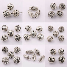 Wholesale 10/20Pcs Tibet Silver  Round Loose Spacer Beads Jewelry Making DIY