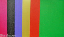 10 x A4 Sheets Glitter Card in Gold/Red/Cerise/Purple/Green/Black/Silver 280gsm