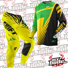 Shift Motocross Combo Trousers Jersey 14 FACTION SATELLITE green-yellow