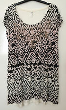 EX EVANS PLUS SIZE OMBRE AZTEC PRINT STUDDED PARTY TUNIC TOP NEW SIZE 18 - 28