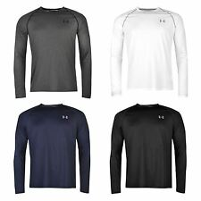 Under Armour Mens Tech T Shirt Long Sleeve Sports Training Running Top