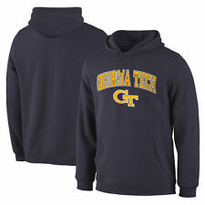 Georgia Tech Yellow Jackets Campus Pullover Hoodie - Navy - College