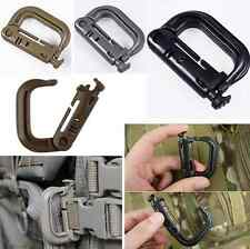 Hot Tactical Grimloc Safety Safe Buckle MOLLE Locking D-ring Carabiner Climbing