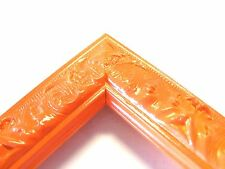 Small Orange Victorian Wood Ornate Picture Frame-Custom Made Panoramic