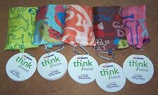 Eco Friendly Reusable Tote Bag In Pouch with Carabiner Clip Dog Cat Pet Designs