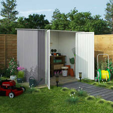 Combo Metal Garden Shed Pent Roof Outdoor Storage Shed including Foundation Kit