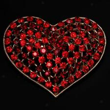 Fashion Crystal Rhinestone Love Hearts Brooch Pins Costume Jewelry