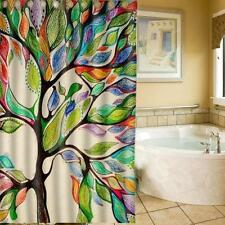 Bathroom Curtain Big Abstract Scenery Tree Design Bathroom Fabric Shower Curtain