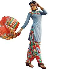 Ready To Wear French Crepe Printed Salwar Kameez Suit Indian Dress-Milly-3011
