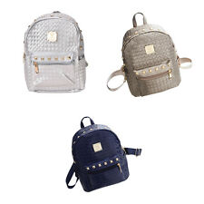 Fashion PU Leather Travel Satchel Shoulder Bag Backpack School Rucksack TBUS