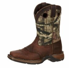 "Durango Western Boots Boys 8"" Saddle Leather Square Toe Brown DBT0121"