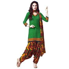 Ready To Wear French Crepe Printed Salwar Kameez Suit Indian Dress-Pummy-9012