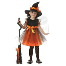 New Kids Girls Fancy Dress Cosplay Halloween Costume Party Old Witch Suit Outfit