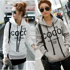 Hot Women Casual Hooded Sweatshirt Pullover Hoodie Coat Outerwear Tops Blouse