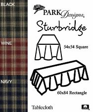 Sturbridge Tablecloth by Park Designs, Pick of 3 Colors, 54x54 or 60x84, Choice