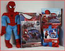 6 pcs - Marvel SPIDERMAN Comforter + Sheet + Blanket + Plush Action Figure  BLUE