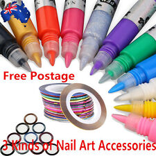 10/30Pcs Mixed Colors Rolls Striping Tape Line Nail Art Tips Decoration Sticker