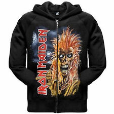 Licensed IRON MAIDEN First Album Eddie Black Sweatshirt Zip Up Hoodie