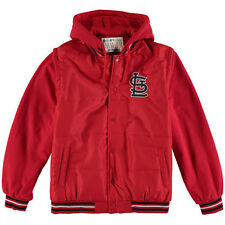 St. Louis Cardinals JH Design Nylon/Fleece Hooded Jacket - Red