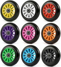 100mm WHEELS FOR STUNT SCOOTER + ABEC9 bearings fits JD Bug Razor Two Bare Feet