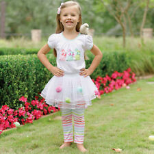 Mud Pie Baby Girls Easter Bunny Tutu Skirt Dress Set  0-6M 6-9M 9-12M New
