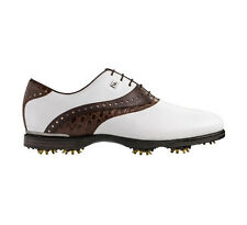 FootJoy Mens Icon Black Golf Shoes 52029–Wht/Dk Brown Croc-Previous Season Style