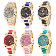 Women Luxury Classic Stainless Steel Gold Dial Quartz Analog Bangle Wrist Watch