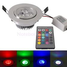 Various 3W LED Ceiling Light Cabinet Downlight Fixture Recessed Lamp + Remote